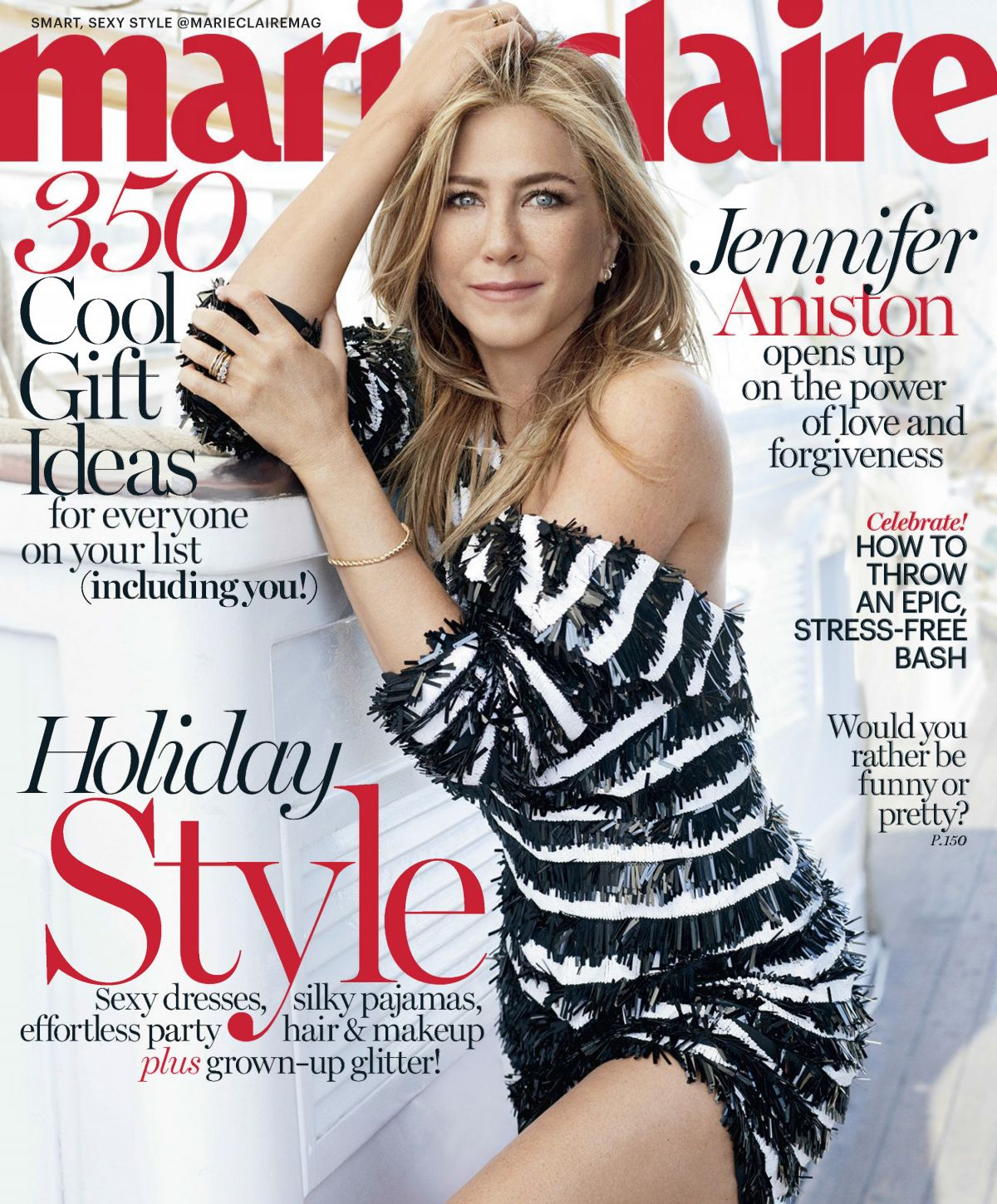jennifer aniston in marie claire magazine december 2016 issue hawtcelebs. Black Bedroom Furniture Sets. Home Design Ideas