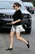 JENNIFER GARNER in Short Skirt Out in Hollywood 11/15/2016