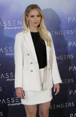 JENNIFER LAWRENCE at Passengers Photocall in Madrid 11/30/2016