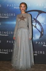 JENNIFER LAWRENCE at Passengers Photocall in Paris 11/29/2016