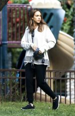 JESSICA ALBA at Coldwater Park in Beverly Hills 11/25/2016