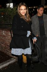 JESSICA ALBA at Delilah Club in West Hollywood 11/26/2016