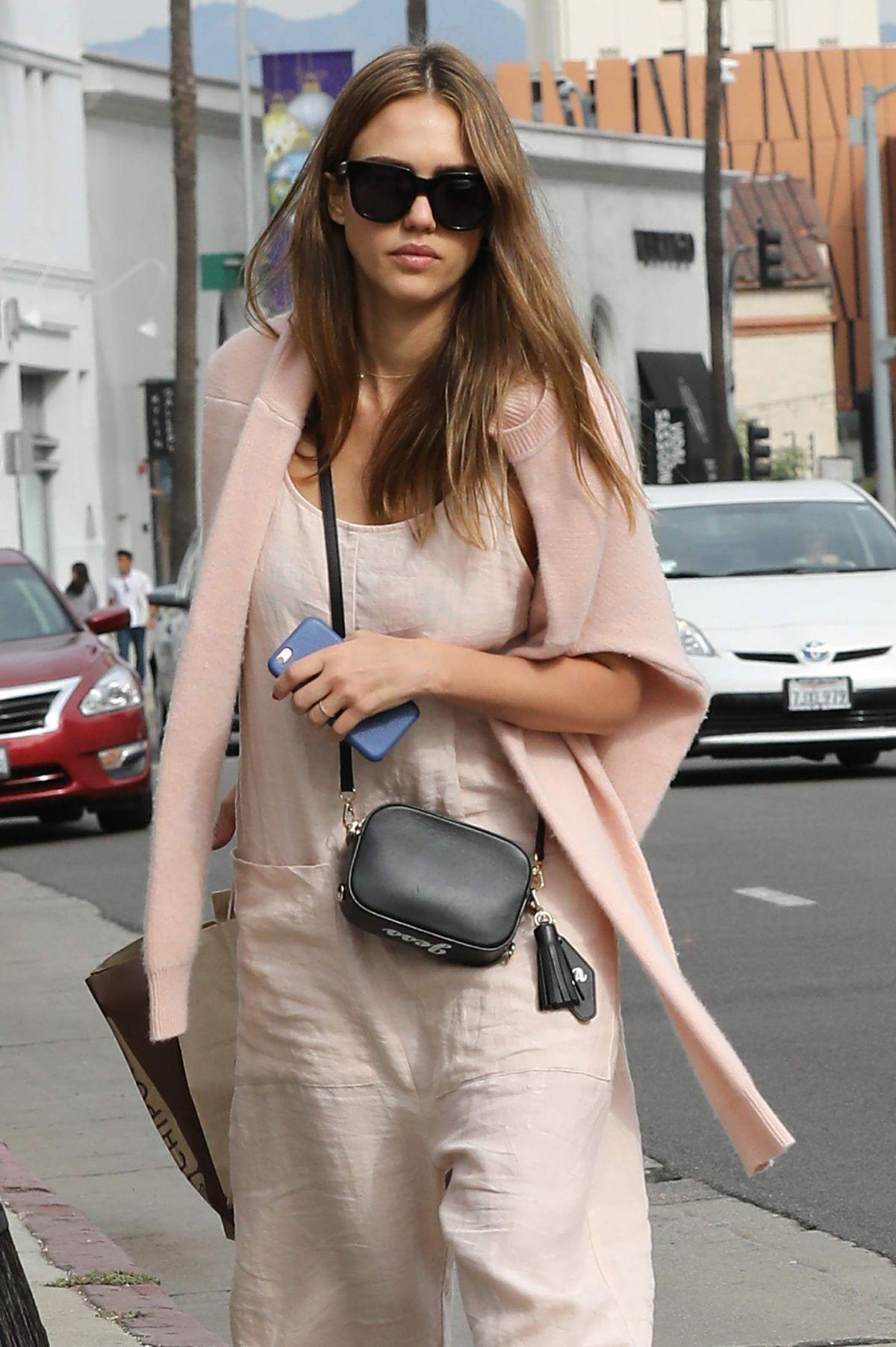 JESSICA ALBA Shopping at Sugarfina in Beverly Hills 11/12/2016