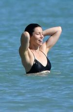 JESSICA BIEL in Bikini at a Beach Caribbean 11/09/2016