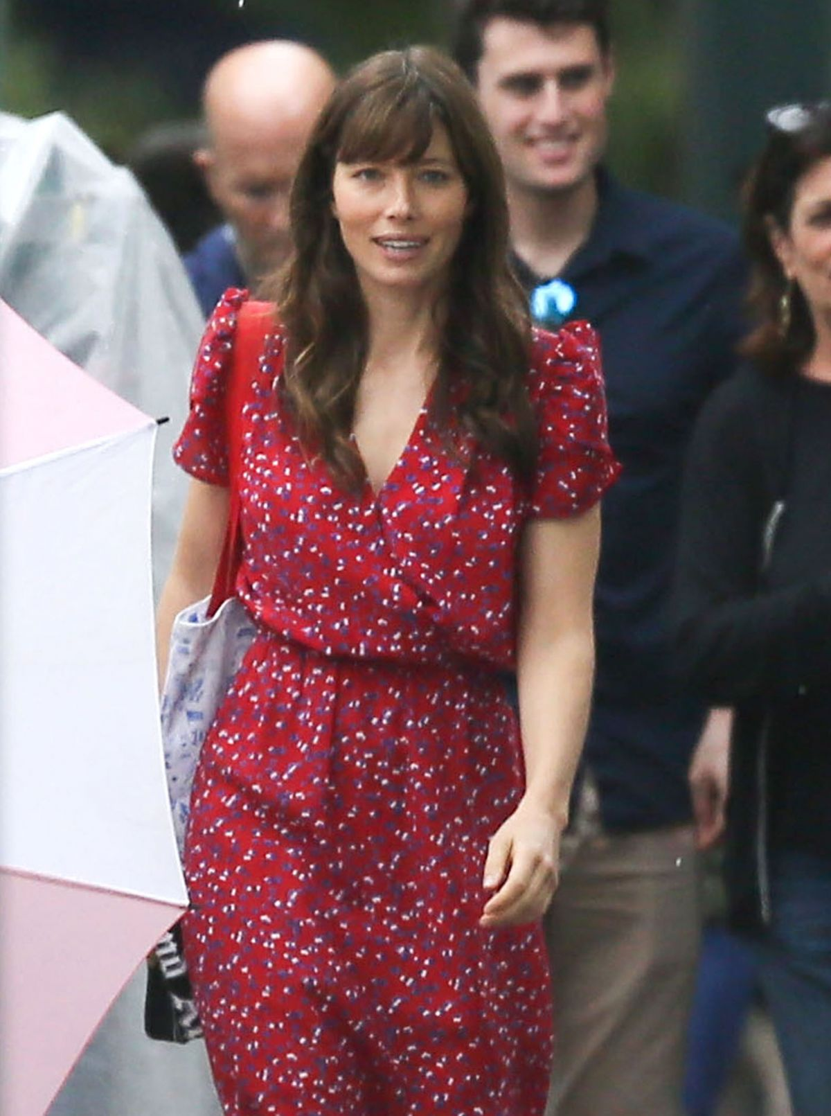 "JESSICA BIEL on the Set of ""Shock and Awe"