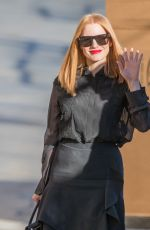 JESSICA CHASTAIN Arrives at Jimmy Kimmel Live in Los Angeles 11/02/2016
