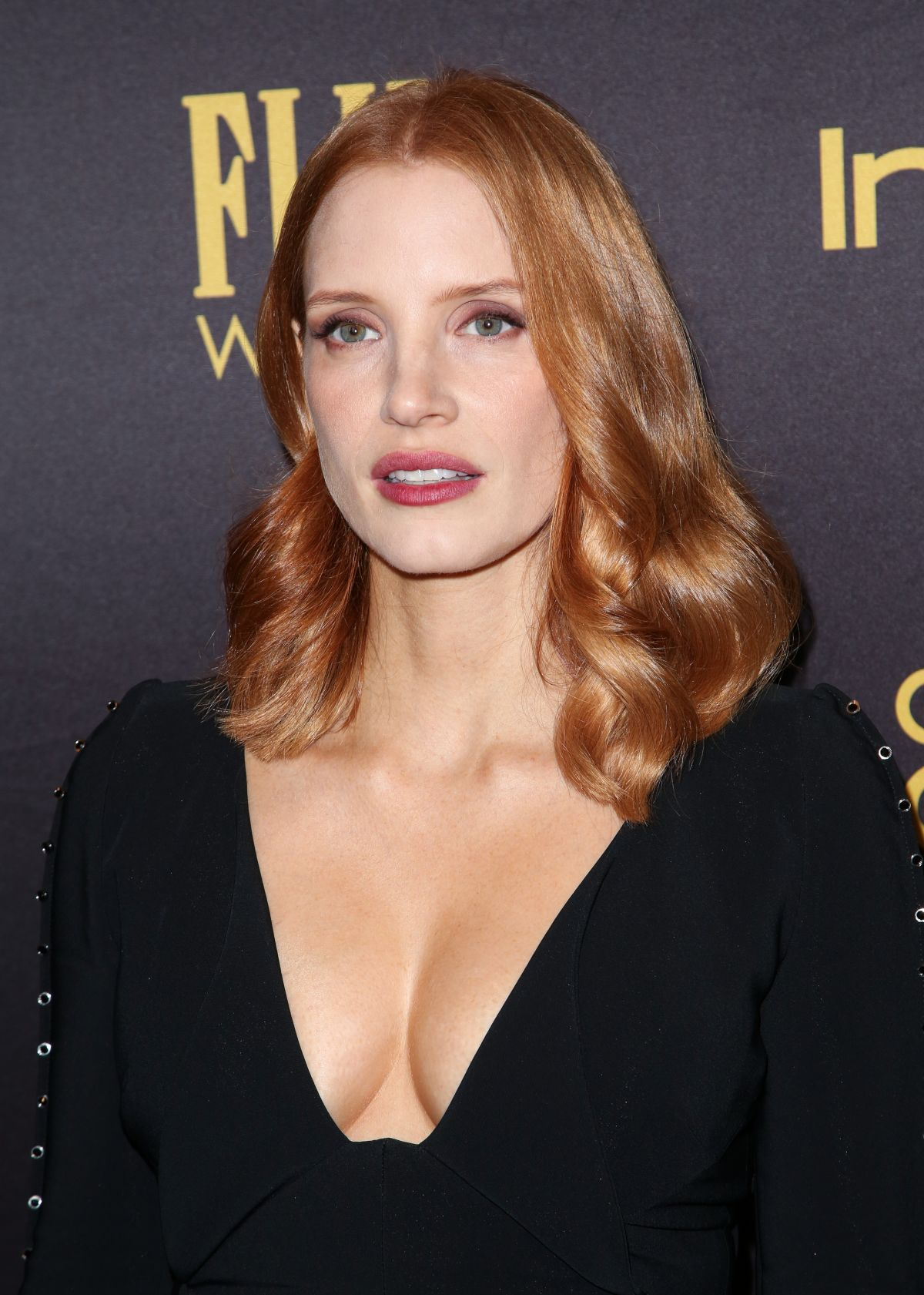 JESSICA CHASTAIN at HFPA & Instyle