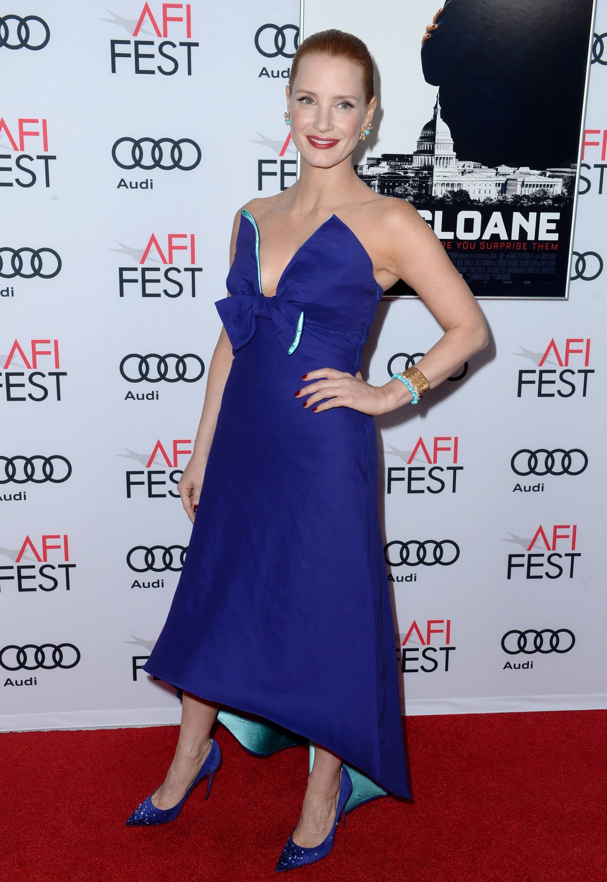JESSICA CHASTAIN at Miss Sloane Premiere at 2016 AFI