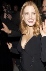 JESSICA CHASTAIN Leaves Catch LA in West Hollywood 11/10/2016