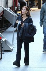 JESSICA CHASTAIN on the Set of