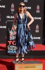 JESSICA CHASTAN at Handprints and Footprints Ceremony at TCL Chinese Theatre in Hollywood 11/03/2016