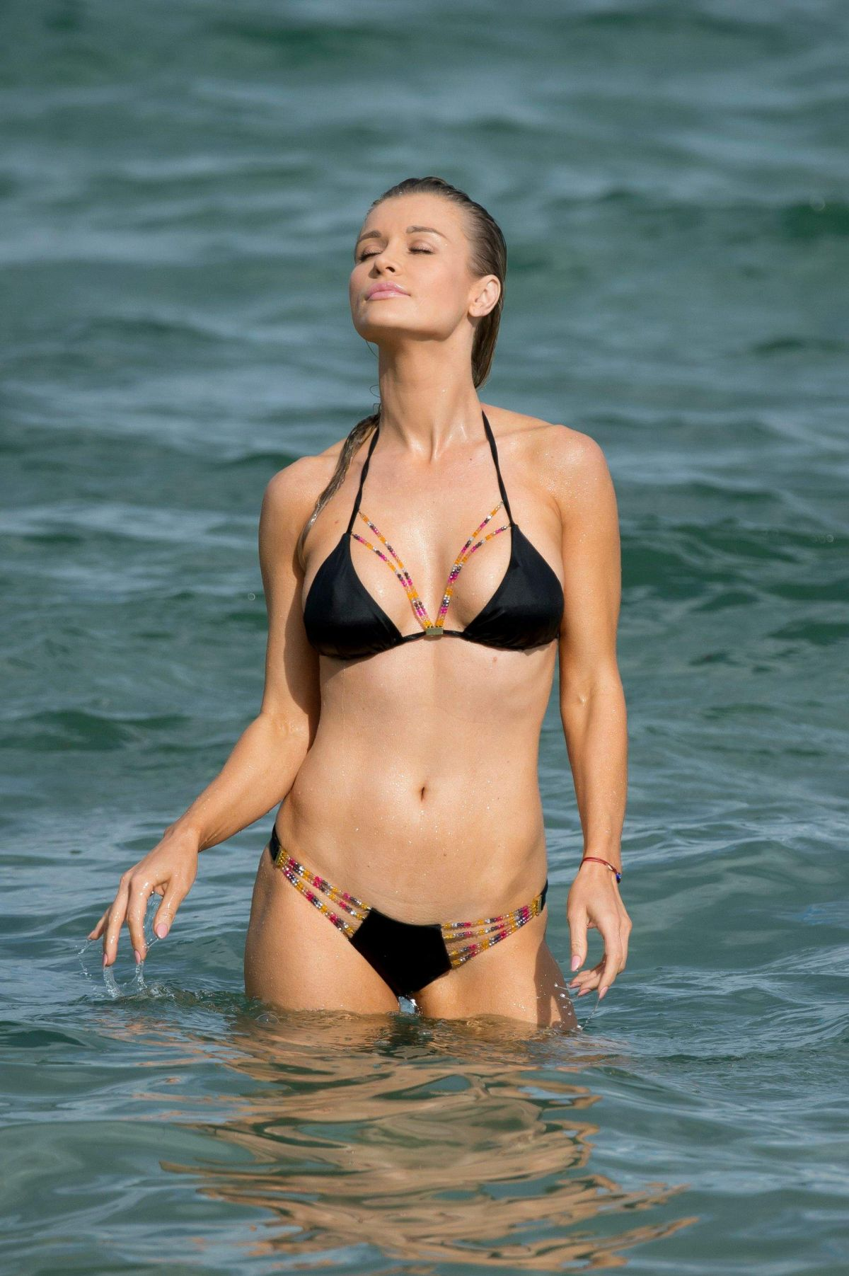 JOANNA KRUPA in Bikini on the Beach in Miami 11/23/2016