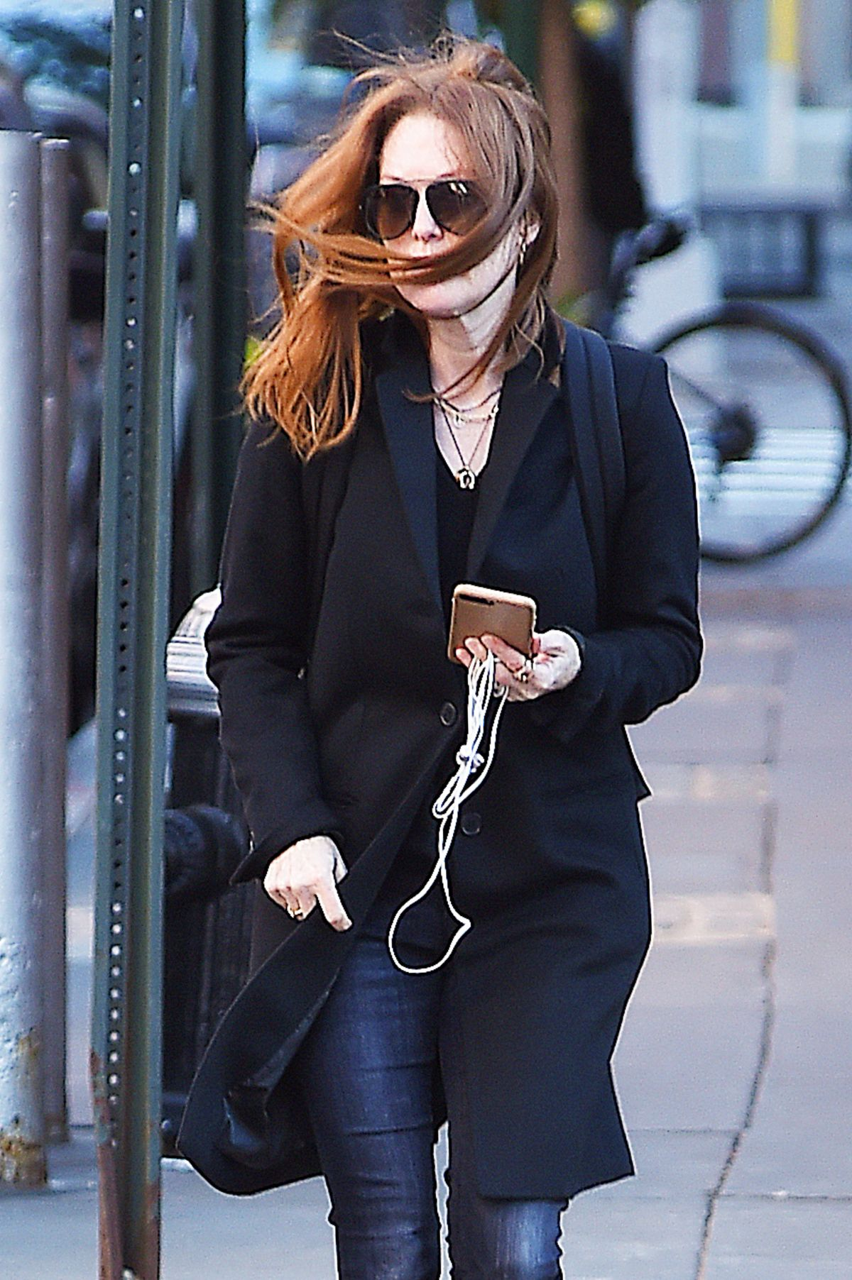JULIANNE MOORE Out and About in Tribeca 11/04/2016