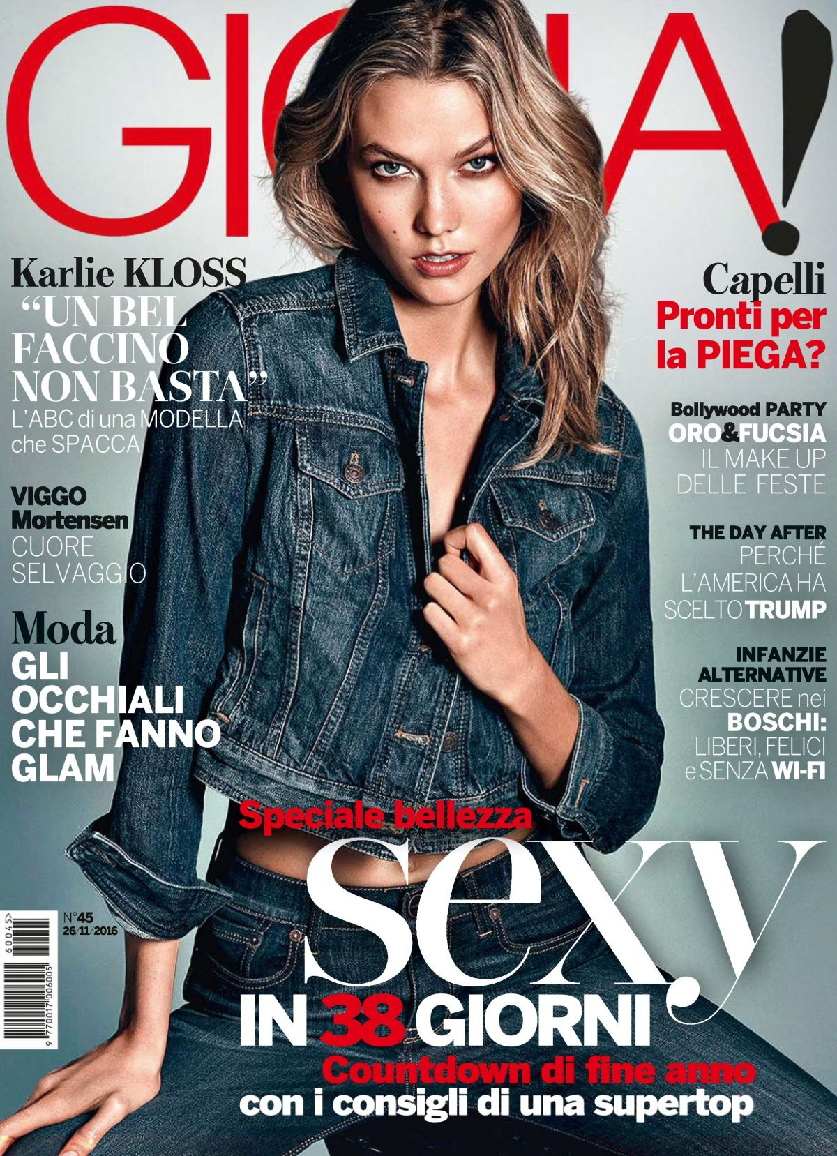 KARLIE KLOSS in Gioia Magazine, November 2016