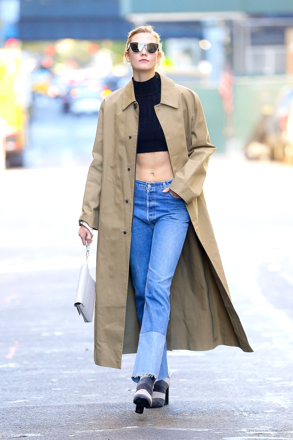 KARLIE KLOSS Out and About in New York 11/04/2016
