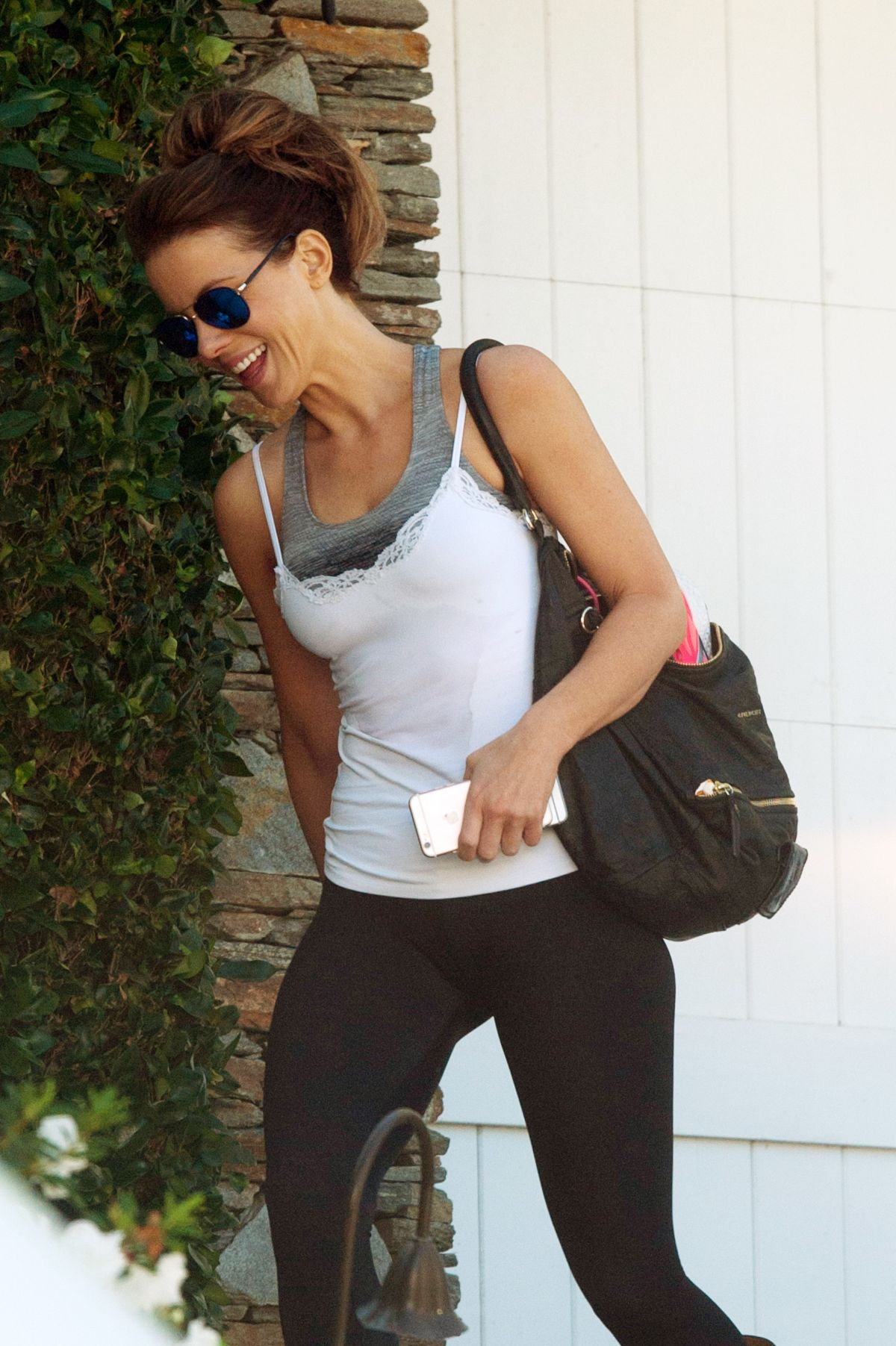 KATE BECKINSALE Leaves a Gym in Los Angeles 11/10/2016