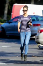 KATIE HOLMES Out for Coffee at Le Pain Quotidian in Westlake Village 11/14/2016