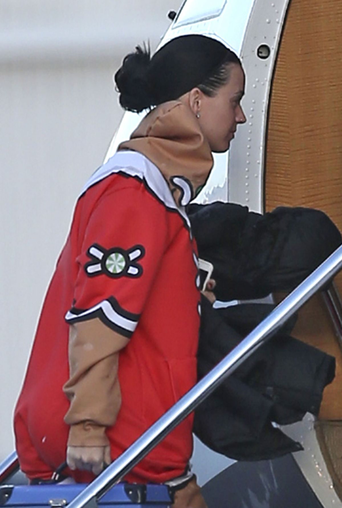 KATY PERRY Boarding at a Private Plane in Van Nuys 11/27/2016
