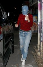 KATY PERRY Leaves a Restaurant in Los Angeles 11/10/2016