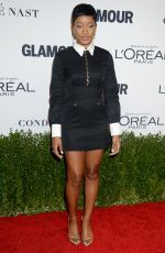 KEKE PALMER at Glamour Women of the Year 2016 in Los Angeles 11/14/2016