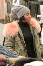 KELLY ROWLAND Out Shopping in Los Angeles 11/27/2016