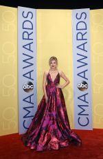 KELSEA BALLERINI at 50th Annual CMA Awards in Nashville 11/02/2016