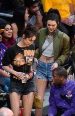 KENDALL JENNER and BELLA HADID at LA Lakers vs Dallas Mavericks Game 11/8/2016