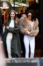 KENDALL JENNER and GIGI HADID Out Shopping in Paris 11/28/2016