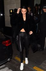 KENDALL JENNER Leaves Her Hotel in Paris 11/28/2016