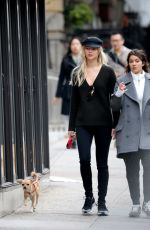 JENNIFER LAWRENCE Walks Her Dog Out in New York 11/03/2016