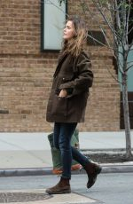KERI RUSSELL Out and About in New York 11/21/2016