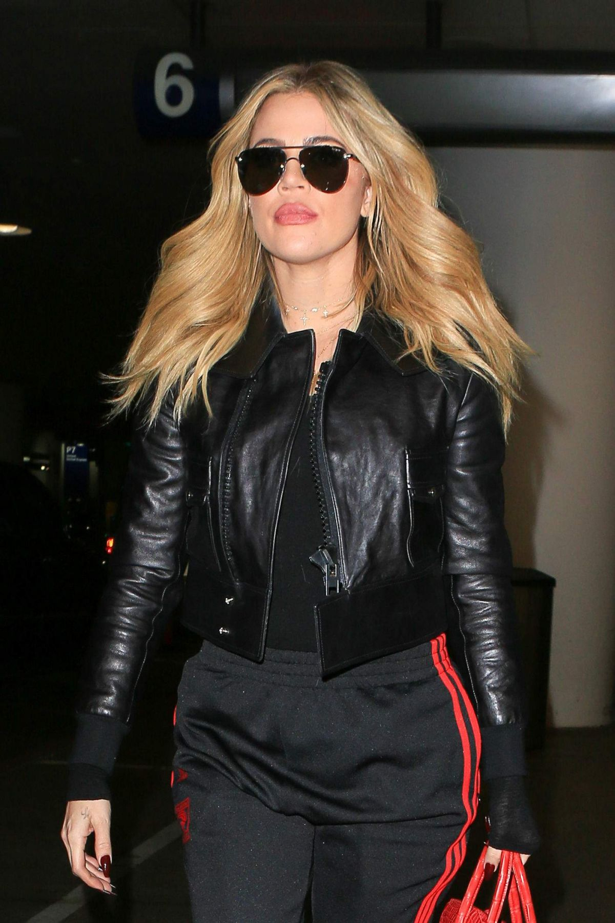 KHLOE KARDASHIAN at LAX Airport in Los Angeles 11/17/2016