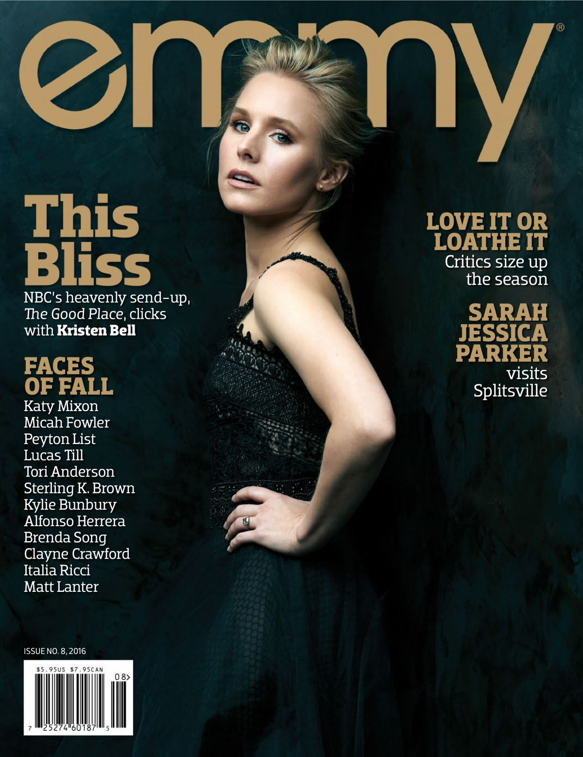 KRISTEN BELL in Emmy Magazine, Issue no.8 2016