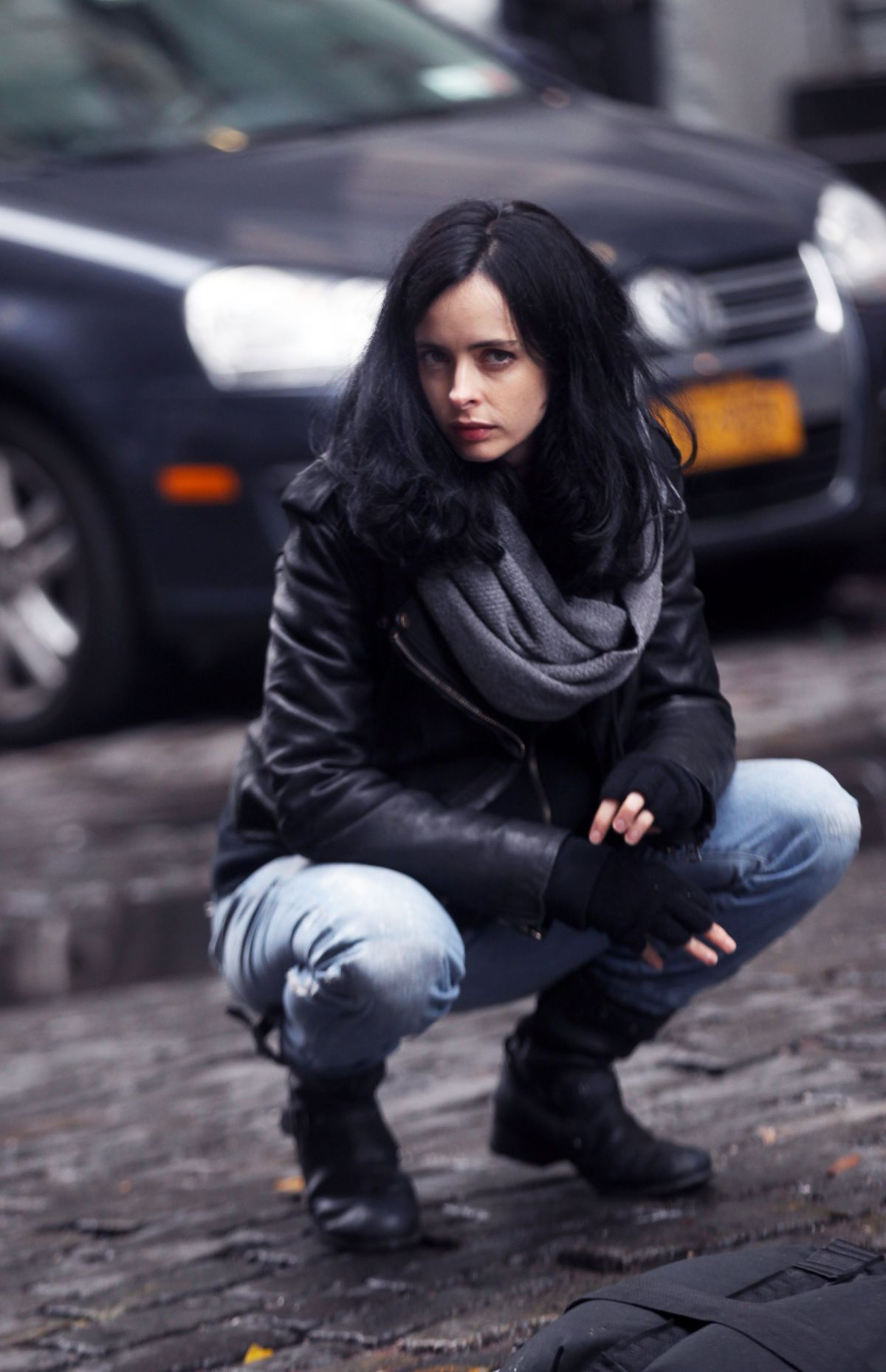 KRYSTEN RITTER on the sSet of Jessica Jones in New York 11/15/2016
