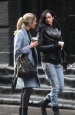 KRYSTEN RITTER on the sSet of Jessica Jones in New York 11/15/2016