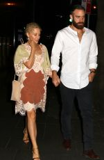 KYLIE MINOGUE and Joshua Sasse Leaves Rockpool Bar & Grill in Sydney 11/20/2016