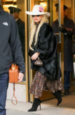 LADY GAGA Out on Thanksgiving Day in New York 11/24/2016