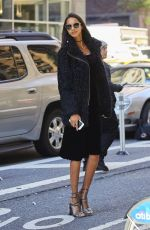 LAIS RIBEIRO Arrives at Victoria's Secret Fashion Show Fittings in New York 10/31/2016