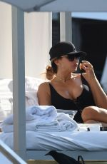 LARSA PIPPEN in Swimsuit at a Pool in Miami 11/12/2016