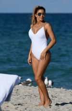 LARSA PIPPEN in Swimsuit on the Beach in Miami 11/13/2016