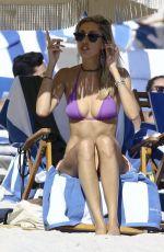 LAUREN STONER in Bikini on the Beach in Miami 11/20/2016