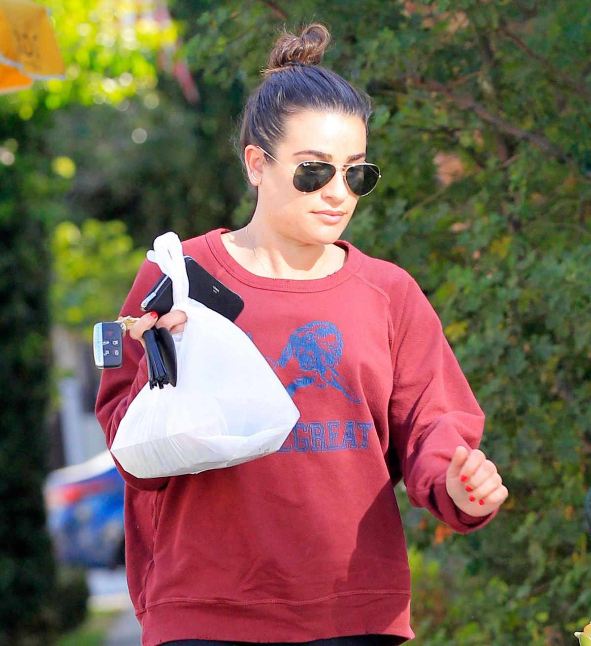 LEA MICHELE Out and About in Los Angeles 11/23/2016