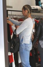 LEONA LEWIS Shopping at Intermix in Beverly Hills 11/22/2016