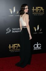 LILY COLLINS at 20th Annual Hollywood Film Awards in Beverly Hills 11/06/2016