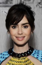 LILY COLLINS at AOL Build Speaker Series in New York 11/15/2016