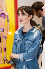 LILY COLLINS at Beau Dunn