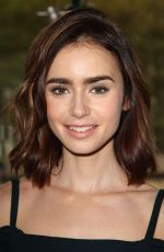 LILY COLLINS at Lunch in Honor of Rules Do Not Apply in New York 11/03/2016