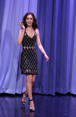 LILY COLLINS at Tonight Show Starring Jimmy Fallon 11/09/2016