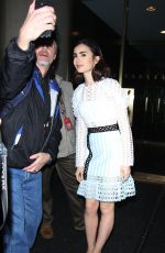LILY COLLINS Leaves Her Hotel in New York 11/16/2016