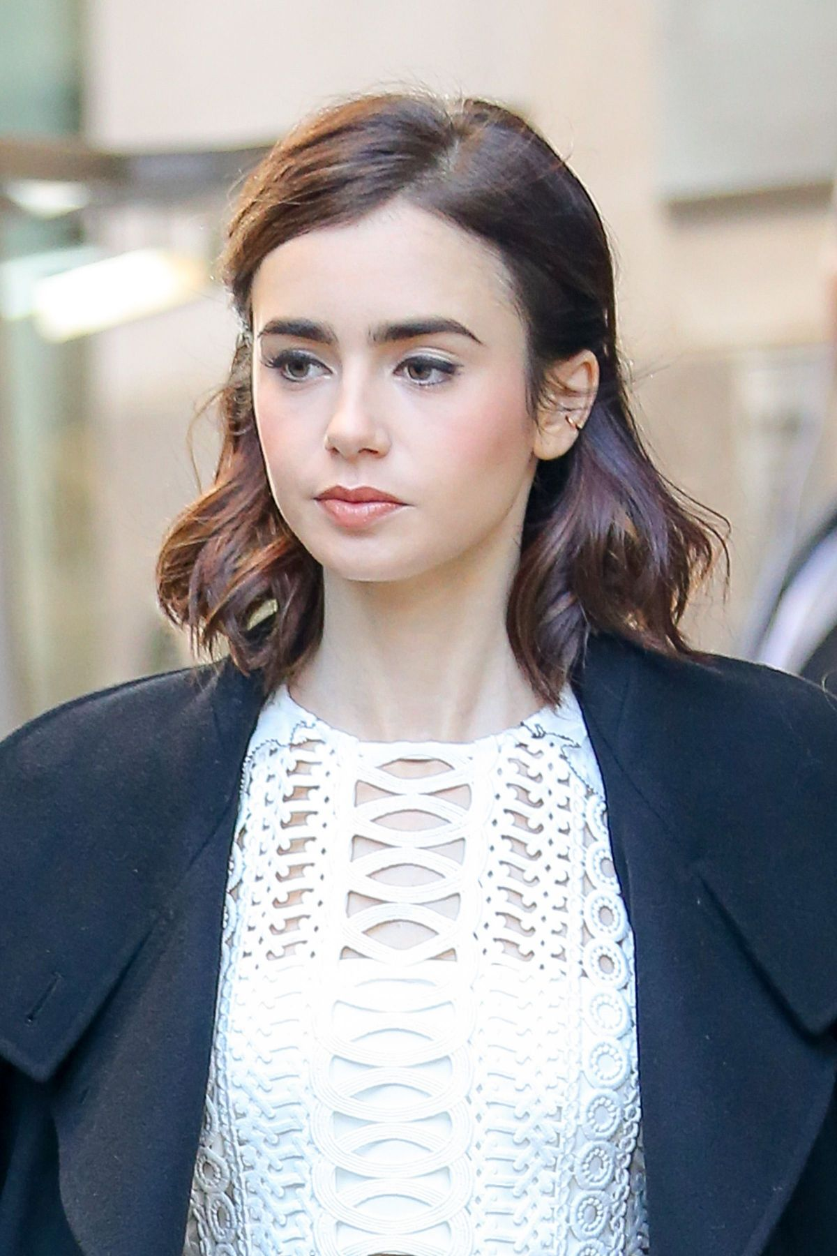 LILY COLLINS Leaves Ti...